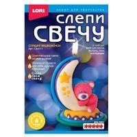 Восковая свеча LORI Спящий медвежонок. Набор для детского творчества